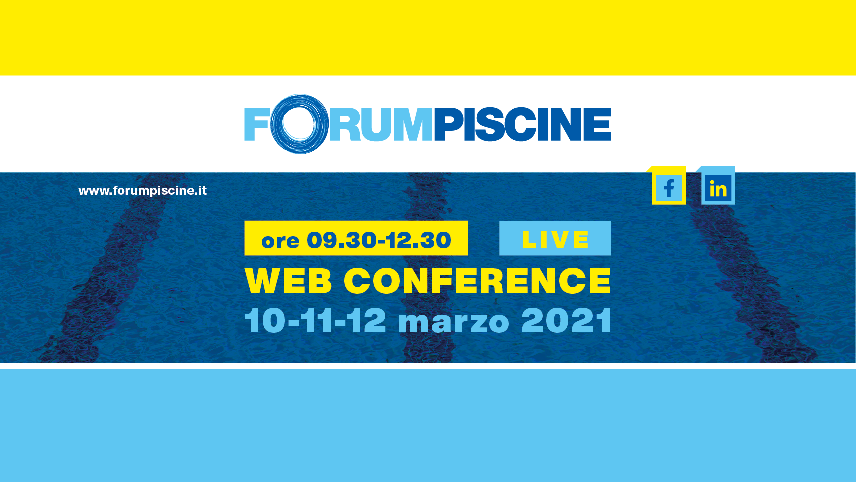 Web Conference ForumPiscine | 10-11- 12 de Março